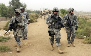 U.S. Soldiers patrolling in Samarra, Iraq