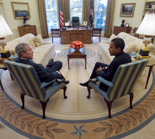 Former President Bush and newly-elected President Obama are more similar than many think